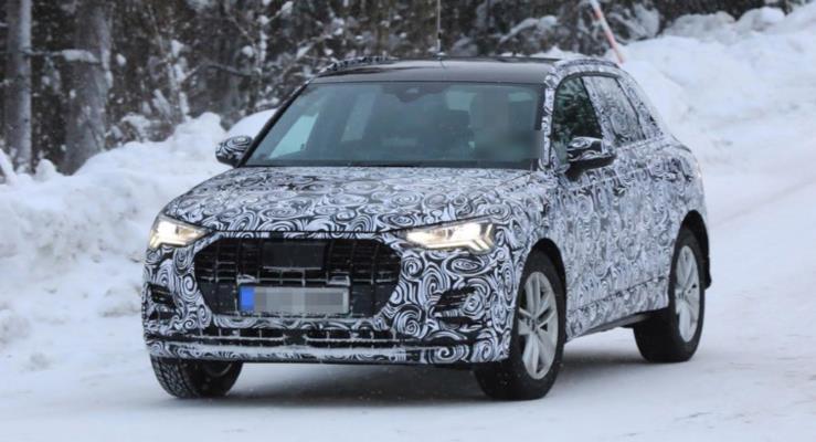 2018 Audi Q3 kış testlerinde ortaya çıktı