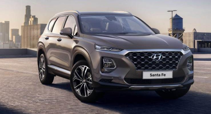 2019 Hyundai Santa Fe Kore'de Kona benzeri görünümü ile ortaya çıktı