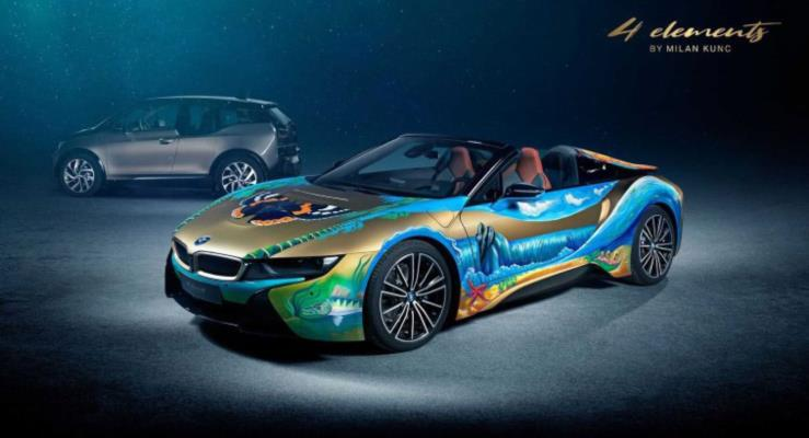 Çevreci BMW i8 4 Elements sanata destek veriyor, okyanusları koruyor