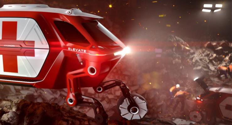 Hyundai Cradle: Enkazın üzerinden yürüyebilen bir kurtarma aracı