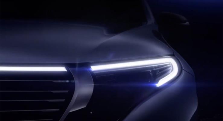 Mercedes-Benz EQC, 4 Eylül'deki tanıtımından önce yüzünü gösterdi