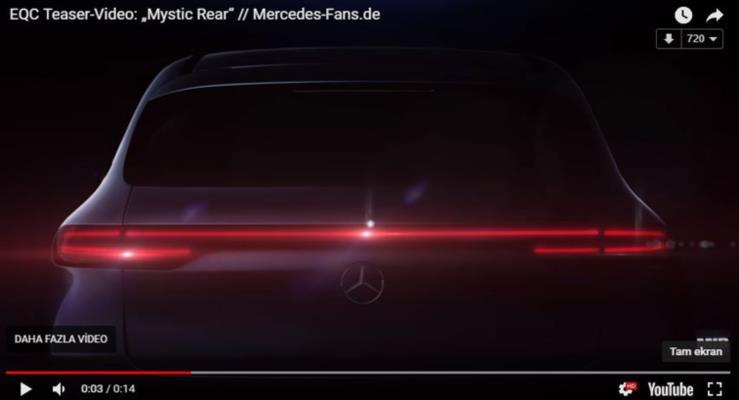 Mercedes-Benz EQC yeni teaserda arka yüzünü de gösterdi