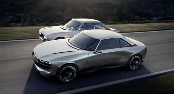 Peugeot e-Legend konsepti Paris'te retro tasarımı geleceğe taşıyacak