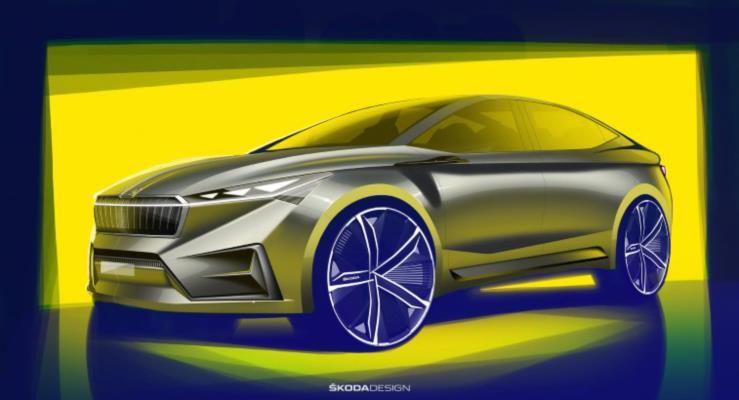 Skoda Vision IV konseptinden iç mekan çizimi