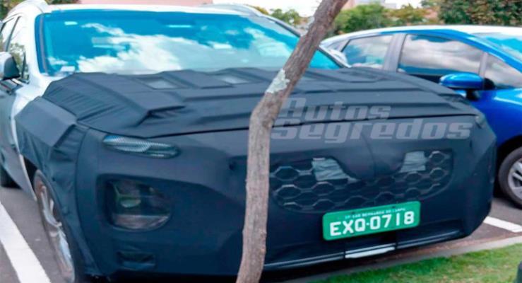 Yeni nesil 2018 Hyundai Santa Fe Brezilya'da görüntülendi